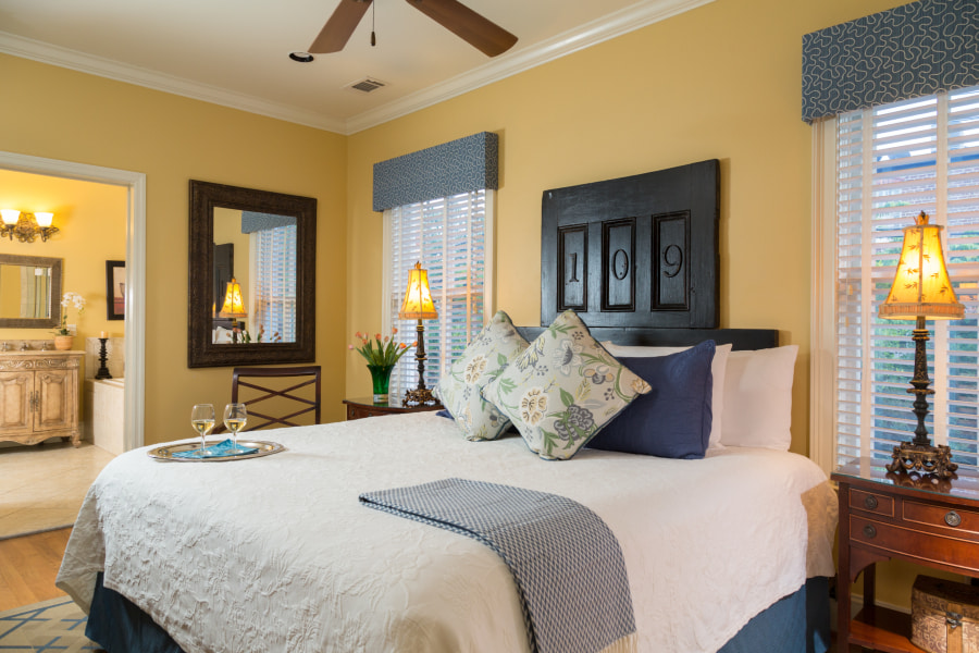 luxurious guest room at The Inn on West Liberty