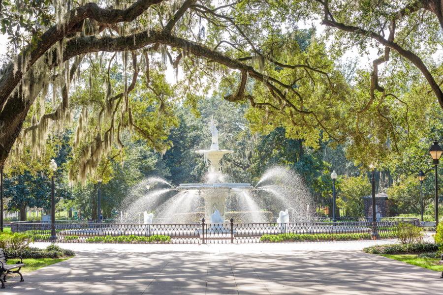 Forsyth's Park in Savannah, Georgia