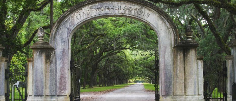 Entrance to Wormsloe Plantation