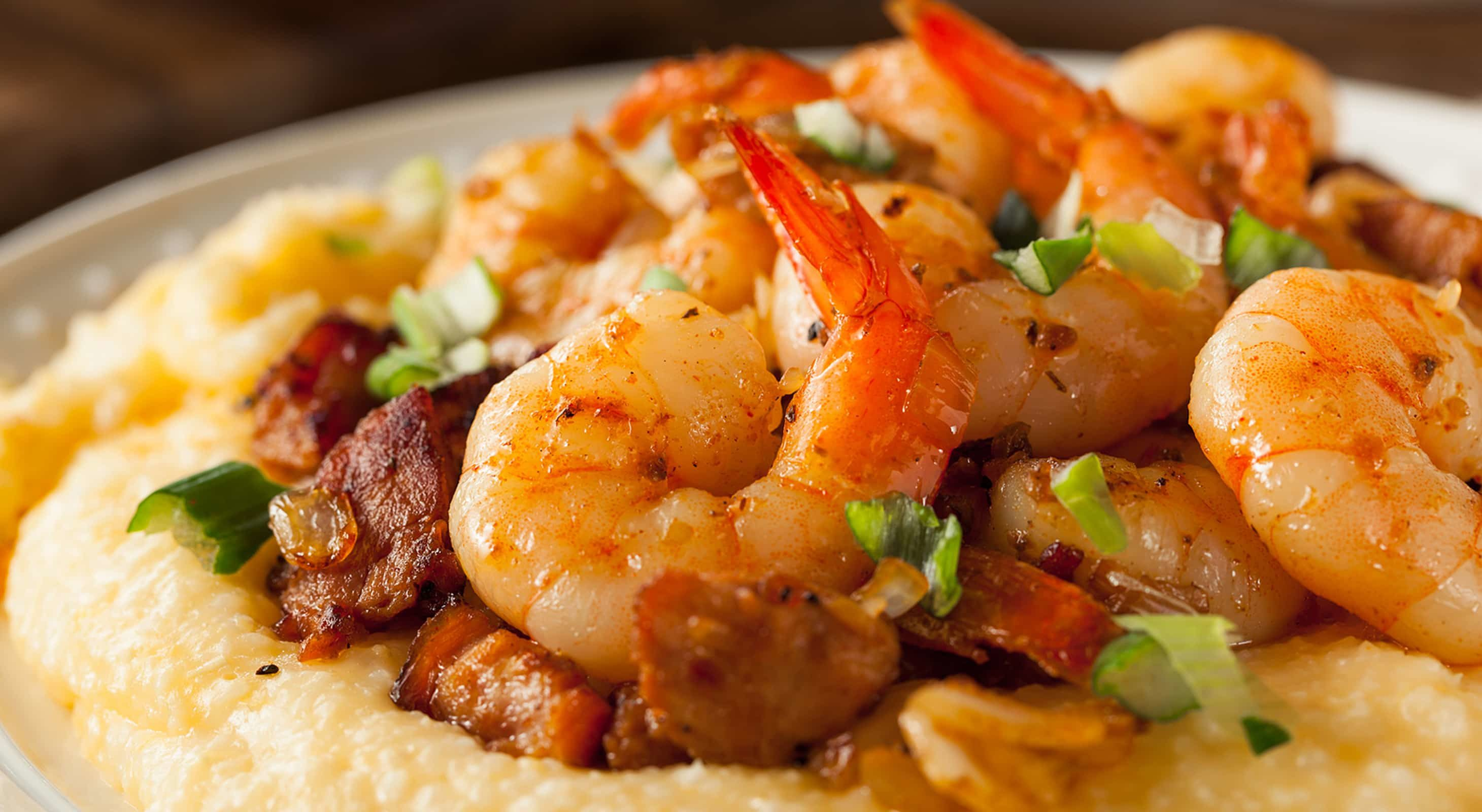 Shrimp and grits with sausage