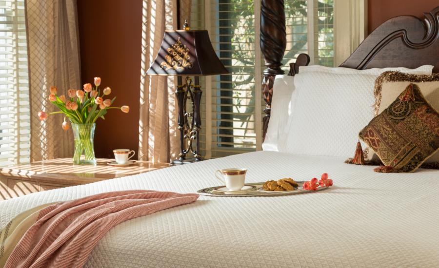 Tea and Cookies in Bed on a Honeymoon Getaway in Savannah