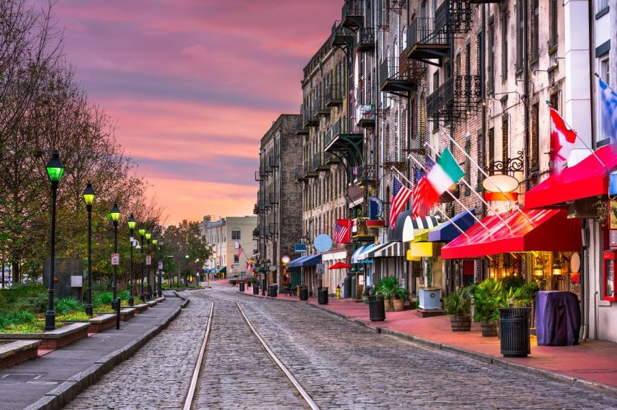 Downtown Savannah During Weekend Getaway from Atlanta