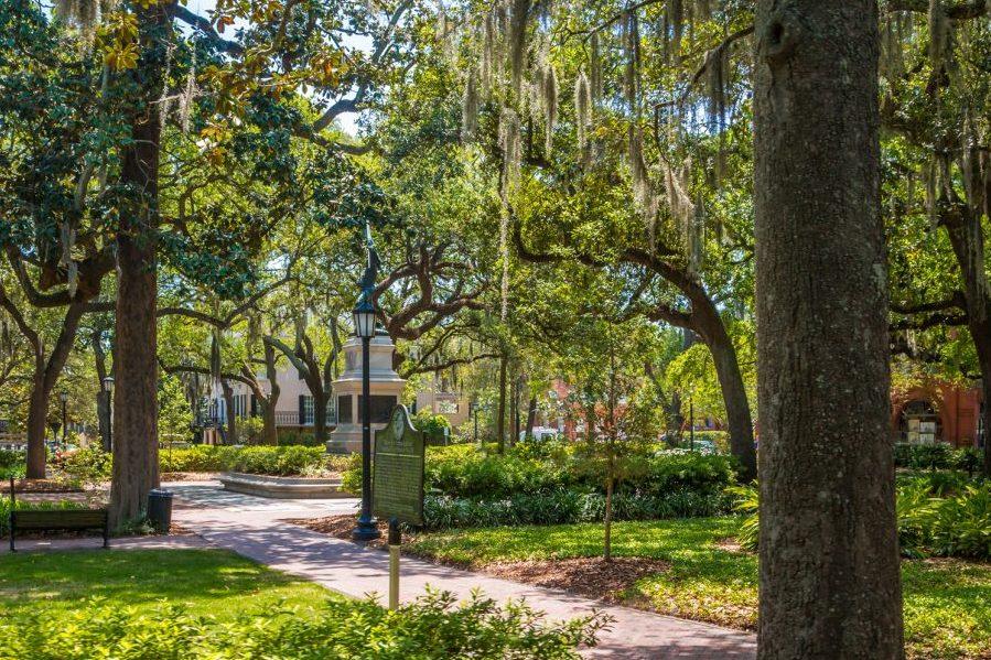 a park in Savannah